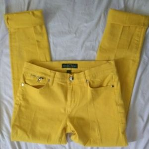 🌻Ralph Lauren Yellow Jeans Size 4